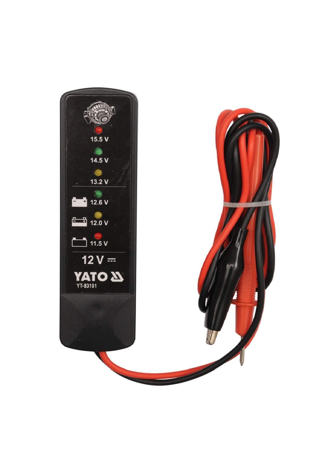 Yato YT-83101 Battery Tester 12 v جهاز اختبار جهد البطارية