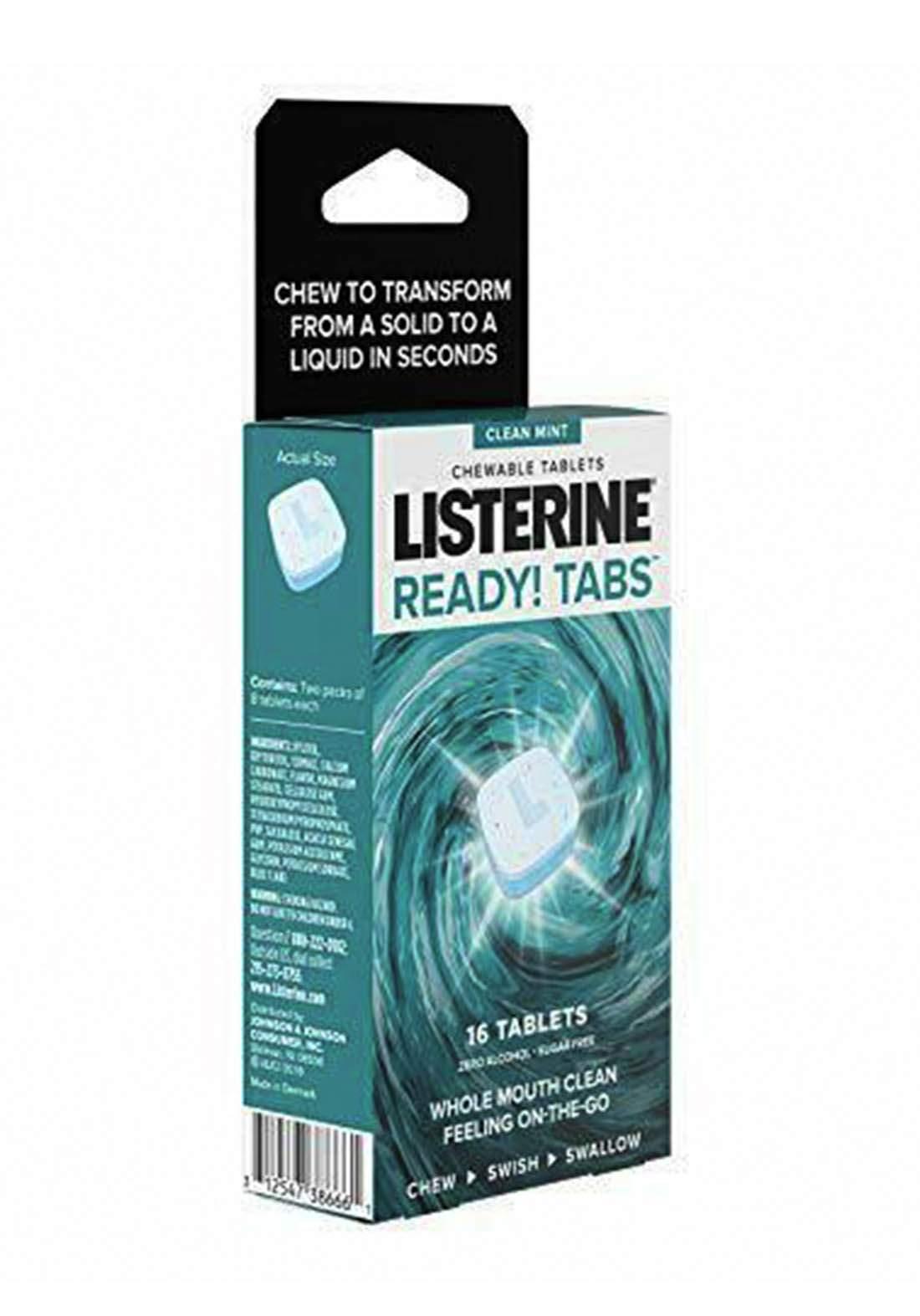 Listerine Ready! Tabs 16 Tablets  أقراص  النعناع