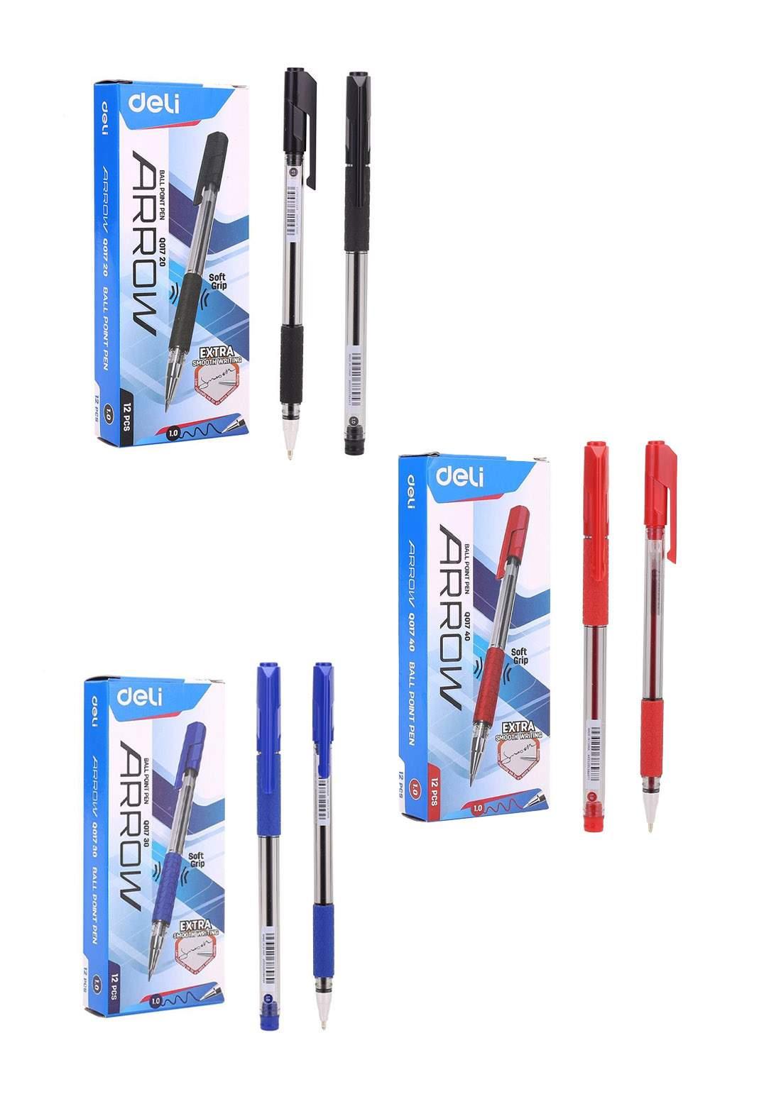 Deli  سيت قلم جاف 12 قطعة